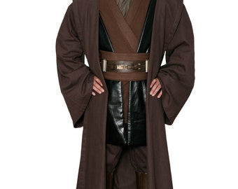 Star Wars Anakin Skywalker Replica Jedi Costume Body Tunic with Replica Dark Brown Jedi Robe - JR 1436