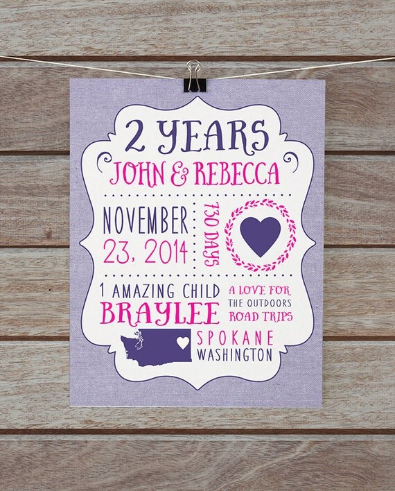 1 Year Anniversary Paper Gift Ideas For Wife : Paper Anniversary Present, Gift for Wife, Husband - 2 year Anniversary ...