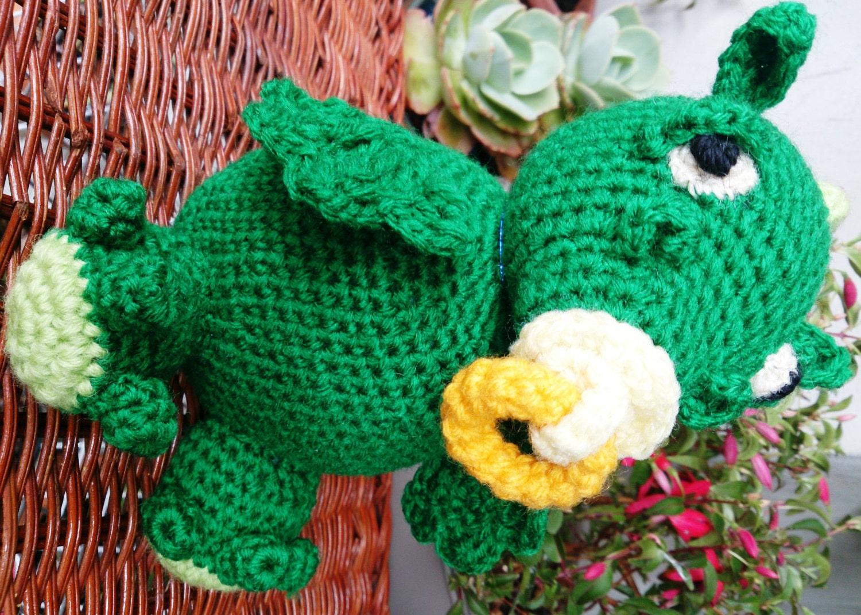 Are Amigurumi Safe For Babies : Stuffed Baby Dragon Toy Amigurumi Crochet by ...