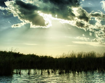 Everglades Sunset -- Fine Art Photography -- Wrapped Canvas Print