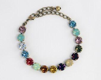 Flower Garden 8mm Swarovski Crystal Bracelet