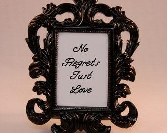 BLACK Framed Lyrics Katy Perry Quote Teenage Dream motivational inspriational home decor gift dorm office desk decor no regrets just love