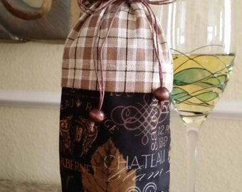 Deluxe Wine Bag-Vintage Collection (Midnight Brown Plaid)