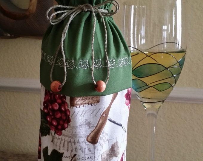 Wine Bag-Deluxe-Vineyard Collection (Green)