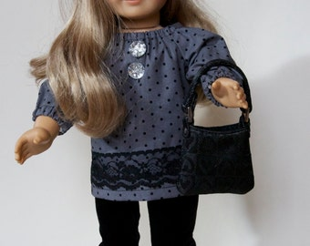 American Girl Doll Outfit - Anita  - Fits American Girl and all 18 inch dolls. Sparkly elegance. Ready for a party.
