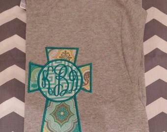 Monogrammed Applique Short Sleeve Tshirt