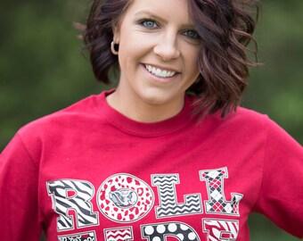 """Alabama """"Roll TIde"""" Crimson T-Shirt"""