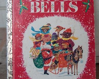 Little Golden Book- Jingle Bells. Vintage Little Golden Book. Jingle Bells. Vintage Christmas Book.