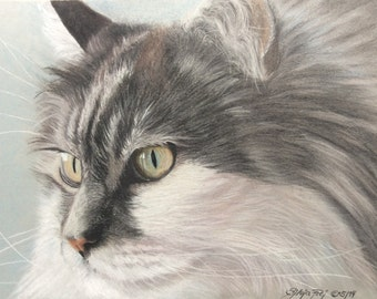 Pet Portrait commission from your photo (size: 21x29,7cm/appr. 8x11in.)