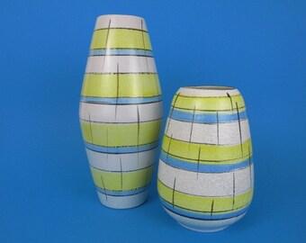 Set aus zwei Mid Century Vasen/60er Jahre/Set of two West German Pottery vases/Bay Keramik/west German Pottery