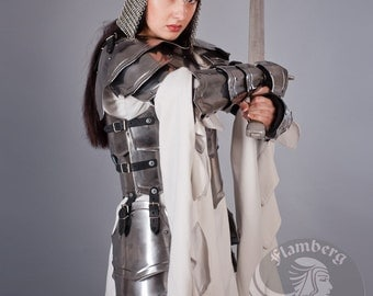 "Larp Medieval Fantasy cuirass ""Brave Angel"" steel female armor: full cuirass ( breastplate and back)"