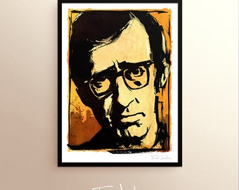 Woody Allen poster, by Fred Jourdain