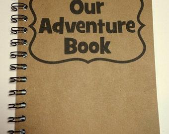 Adventure Book, Travel, Notebook,  Journal, gift, Travel Journal, Travel Notebook, Sketchbook, Personalized, spiral notebook, Up, Disney