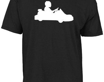 Kart, karting silhouette t-shirt