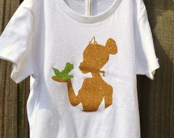 Glitter Disney Princess shirt, Tiana tee shirt