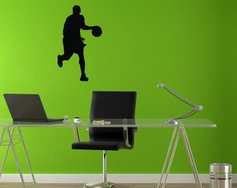 Basketball Playing Wall Art Sticker Decal nm056