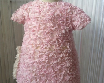 dresses size 6 months and size 2 pink tulle with applications