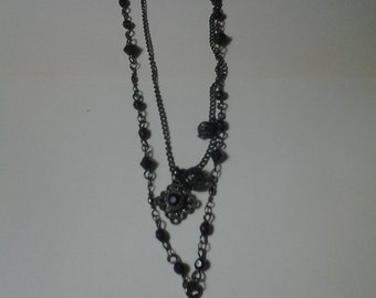 Punk Black Cross Necklace
