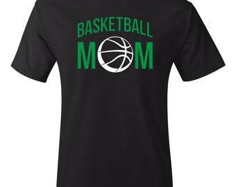 Basketball Mom T-shirt, Quote on Back, many colors to match your team! - 039