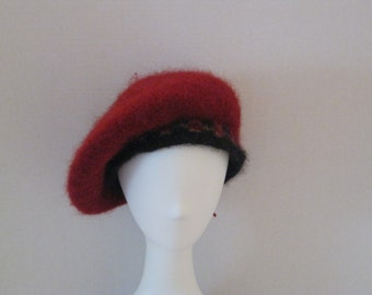 Hand knitted and hand felted Scottish tam