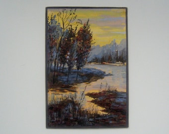 "Print of Original Watercolor Painting ""Evening"""