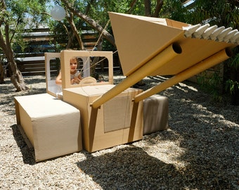 Build-your-own Cardboard Box Bulldozer (and Cardboard Box Car!) - Instructions