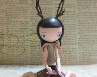 Cold porcelain sculpture -  Little Doe