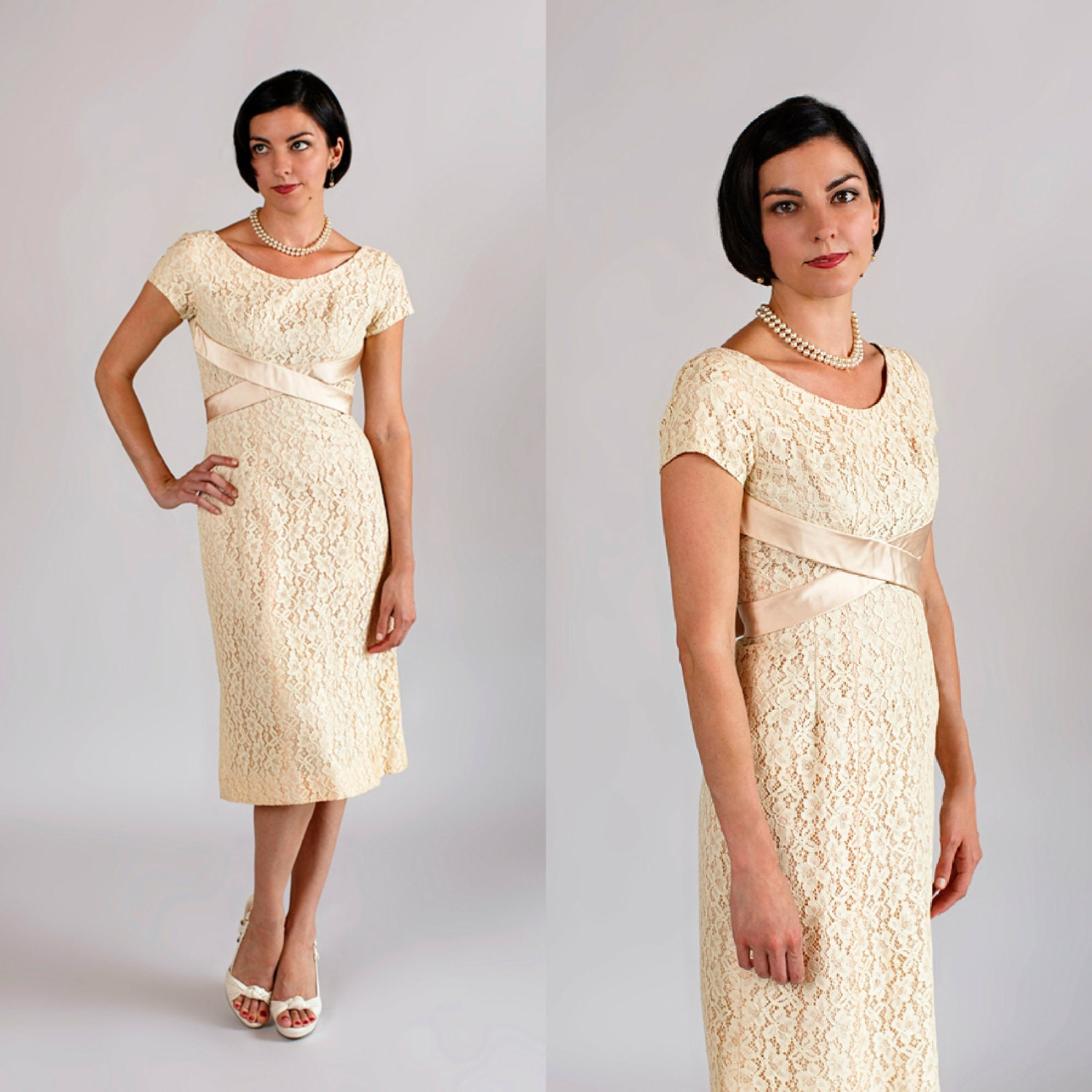 1960s Wedding Dress / Vintage Lace Wedding By