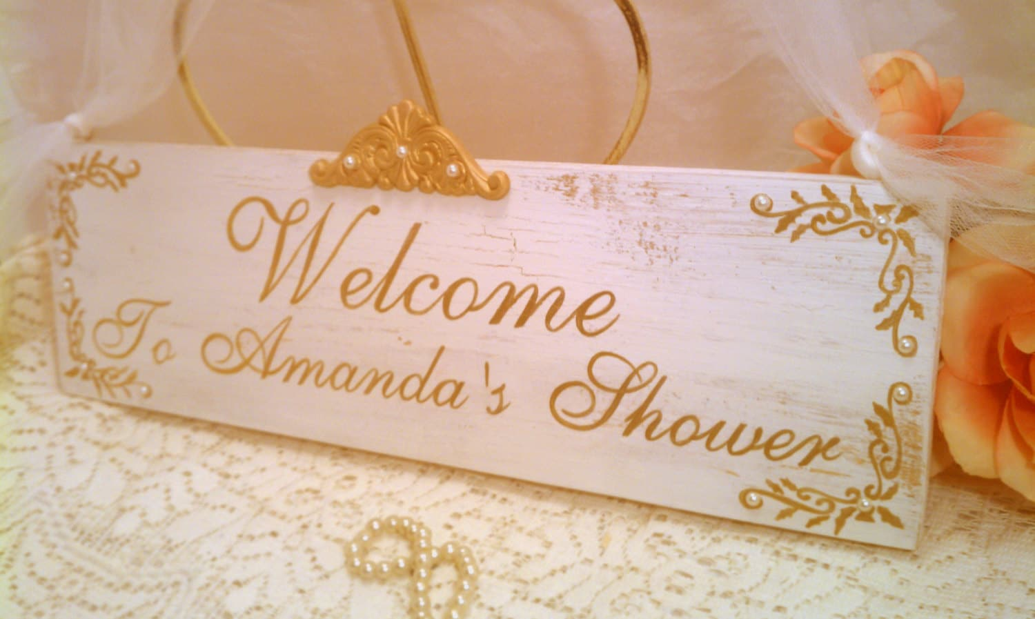 Wedding sign personalized bridal shower sign by hickoryandlace for Wedding shower signs