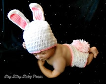 Crochet Baby Bunny Outfit Baby Easter Hat Bunny Hat Diaper Cover Baby Girl Easter Outfit Newborn Bunny Outfit Crochet Bunny Girls Easter Hat