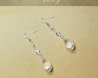 Swarovski Crystal earrings, Dangle drop earrings, Czech Crystal earrings, 925 Sterling Silver findings, Bridal earrings, InfinityCraftArts