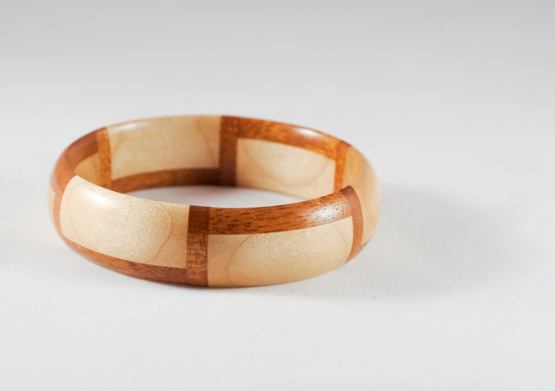 geometric wood bangle bracelet segmented handmade bracelet