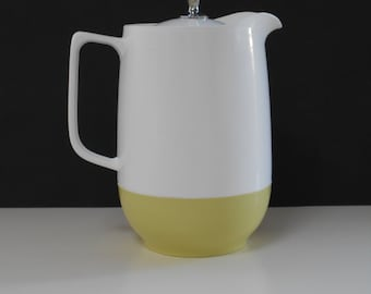 1960's Large Retro Marquis Thermo or Water Jug White and Pale Lime Green