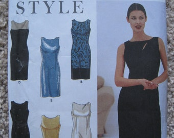 UNCUT Misses Dress - Simplicity Sewing Pattern 9108 - Size 8 to 18