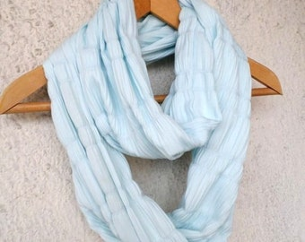 Mint scarf, Light mint scarf, Infinity scarf, Loop scarf, Jersey scarf, Circle scarf