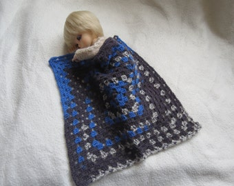 Doll Blanket in crochet for YOSDs and similar sized dolls