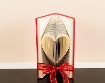 Small Heart - Folded Bookart Sculpture