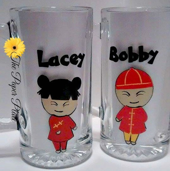Beer Mug, Wedding Gift, Asian, Love You Long Time, Funny Beer Mugs ...
