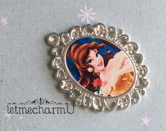 Disney Princess Belle Pendant - Disney Princess Belle Necklace - Belle Necklace - Belle Jewelry - Beauty and the Beast Necklace