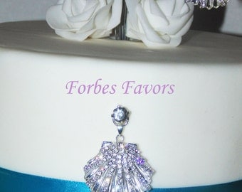 Rhinestone SeaShell Cake Push In