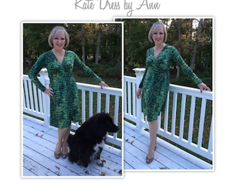 Kate Dress // Sizes 10, 12 & 14 // Wrap Dress Pattern for Women by Style Arc // Sewing Project // DIY Clothes