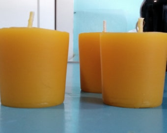 100% Beeswax Votive Candles #AABWC-0102 Homemade by Honeybees from Applewild Apiaries