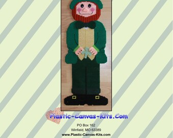 St. Patrick's Day Leprechaun Wall Hanging-Plastic Canvas Pattern-PDF Download