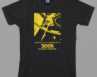 2001 A Space Odyssey T Shirt  - stanley kubrick, movie, hal 9000, space, nasa, shining, clockwork orange - Graphic Tee, All Sizes & Colors