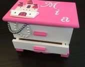 Girls Jewelry Box, Girls Jewellry box, Pink Customized Jewelry Box, Personalized Jewelry Box, Girls Jewelry,Jewelry Box, Girls Jewelry, girl
