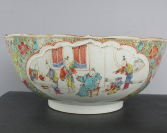 Antique Chinese Famille rose Qing Dynasty Qianlong Bowl