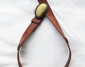 Vintage Leather Italian Made Belt