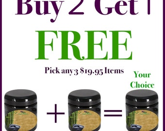 Buy 2 Get 1 FREE - 100% Natural Skin Care Products|AntiAging|Moisturizers|BOGO|Body Butter|Face Cream|Facial Cream|Face Moisturizer