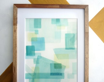 """Abstract Watercolor Giclee Print 