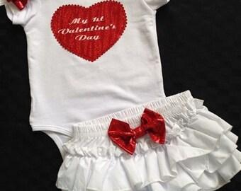 Baby Girl .... valentines day ..Baby rufflepants...